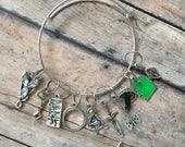 LOTR stitch marker bracelet - for your knitting project bag - lord of the rings/hobbit/gollum/frodo/bilbo/evenstar/arwen