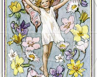 Spring Is Coming - ADHESIVE Bookplates - Personalized Bookplates - Vintage Art -  Lovely Gift - Spring Flowers - Daffodils - Daisies