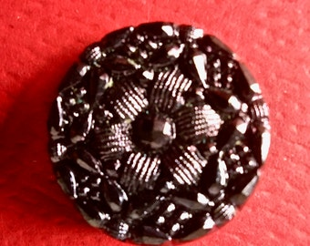 Vintage Molded Glass Buttons from the Czech Republic for Sewing and Crafts