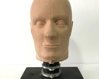 Vintage Crast Test Dummy Head on Stand