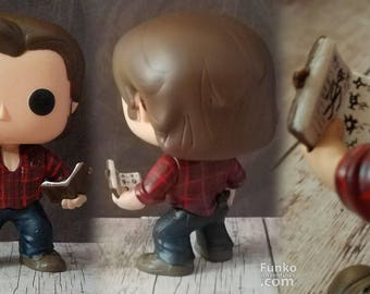Supernatural research ready Sam Winchester  - Custom Funko pop toy