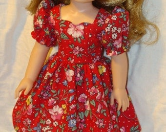 Wellie Wishers Clothing for dolls -  Summer Dress, panties, headband and sandals