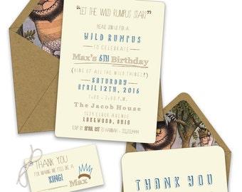 Wild Things Birthday Invitations