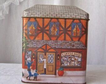 Vintage Kitchen Tin Coffee Shop Tin Container 1970s