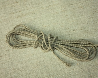 3 mm Linen Rope =1 Spool = 37 Yards = 33 Meters Natural Linen Twisted Cord - Decorative Rope