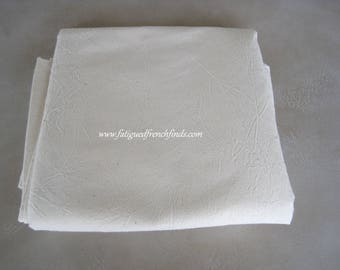 Vintage French Metis Linen Sheet Unused Condition New Old Stock C1950