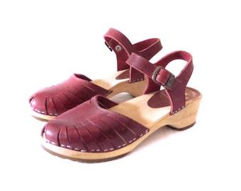 1970s Danish Clog Sandals, Size 35