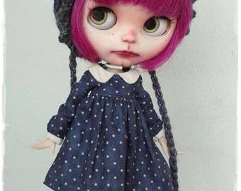 RESERVED for POPPIE Little Aubergine Blythe custom doll by Antique Shop Dolls