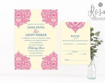 Indian invitations Etsy