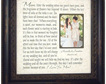 Mom Wedding Gift, Mother of Bride Gift, Parent Wedding Gift, Mother of the Groom Gift, Wedding Gifts for Parents, Parents of the Bride Gift