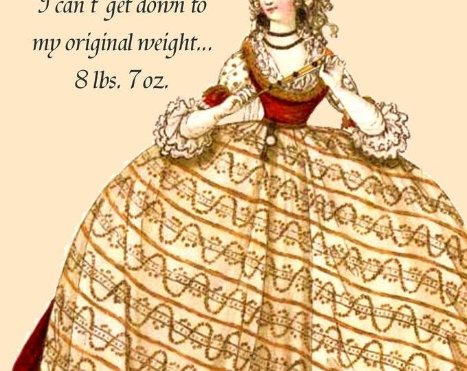 Dieting Just Doesn't Work For Me... Marie Antoinette Postcards. Marie Antoinette. Cards. Gift For Her. Marie Antoinette Hair. Diet. Queen.