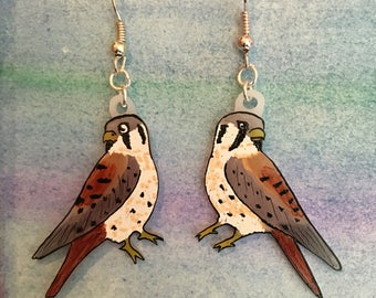 Kestrel hawk earrings