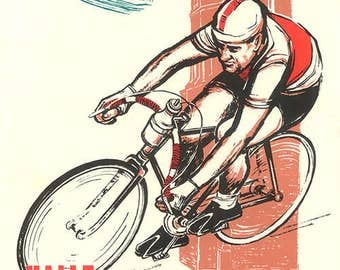 1960 Peace Race Bicycle Poster (#0434) 6 sizes