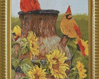 Cardinals Counted Cross Stitch Kit Designed by Victoria Wilson-Schultz Bucilla Heirloom Collection Kit 45948 NIP Cross Stitch Kit