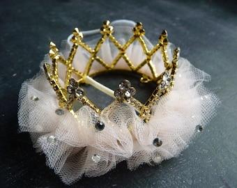 "Queen BE MINI Crown ""Catherine"" Mini Rhinestone tutu crown Birthday Tiara Newborn Photo Prop...Newborns Toddlers Birthday"