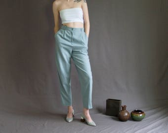 Pale Blue High Waist Pants
