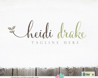 premade logo photography logo health food logo hand drawn logo leaves logo sprout logo herb logo soap logo premade logo design health logo