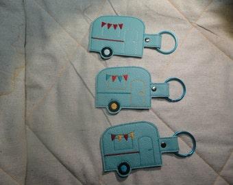 Camper Key Fob Aqua Colored three to choose from
