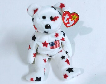 TY Beanie Baby - GLORY The Bear - Collectibles - Ty Baby - Beanie Babies - US Flag