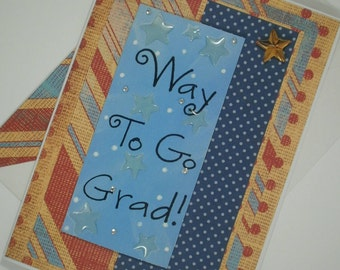 Graduation Card, Graduation, Class of 2017, Handmade Graduation Card, High School Graduation Card, College Graduation Card, Way to Go Grad