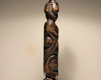 Abstract Wood Totem Figure Tribal