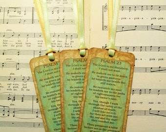 Psalm 23, Scripture Bookmark Set, Set of 3, The Lord is My Shepherd, Sunday School Gifts, Scripture Favors, Bible Favors