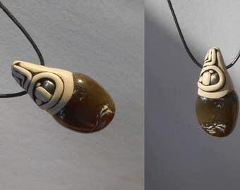 Onyx Pendant with Pyrite / onyx / onyx jewelry / pendant / necklace / minimalist onyx / subtle tribal / WILL-POWER STONE / onyx pyrite
