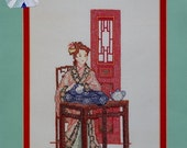 50%OFF Rebecca Waldrop CHINESE EMBROIDERER Ming Dynasty By Mar Bek Serendipity Designs - Counted Cross Stitch Pattern Chart