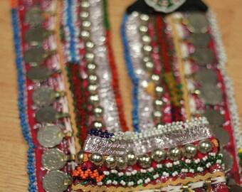 Vintage Kuchi Tribal Belly Dance Belt, old ethnic gypsy