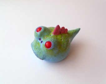 Polymer Clay Swamp Monster Sculpture - Clay Monster Figurine - Clay Fantasy Creature - Whimsical Home Decor - Polymer Clay Creature - OOAK