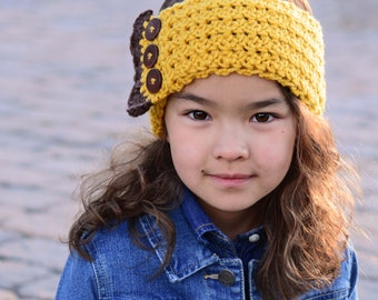 CROCHET PATTERN - Country Charm headwrap - crochet headband pattern, head wrap (Babies, Toddler, Child, Adult sizes) - Instant PDF Download