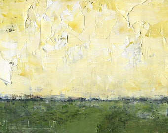 Original Oil Painting Landscape Painting Abstract by John Shanabrook - 5 x 7 - Field Way