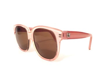 Vintage Emmanuelle Khanh / Cotton Candy Pink Sunglasses / Hand made in France