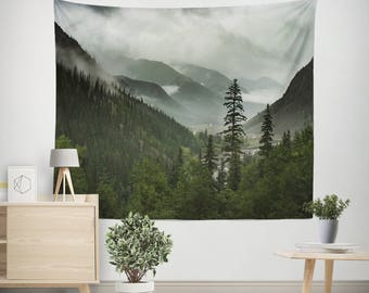 Adventure Tapestry,  Mountain Wall Tapestry, Mountain Bedroom Decor, Tree Wall Tapestry, Boho Wall Tapestry, Wall Tapestry Art