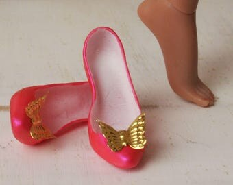 Kingdom Doll Shoes Gold Butterfly