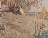 "F. Glebov ""On the Autumn Hunt"" Postcard -- 1956"
