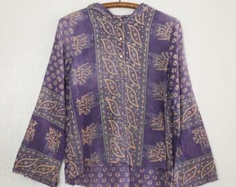 ethnic hooded tunic - M