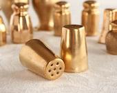 Gold salt and pepper shakers, all over gold, , lusterware, vintage salt and pepper, gold porcelain