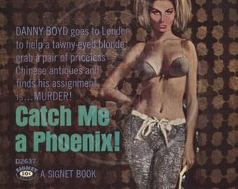 Catch Me a Phoenix - 10x17 Giclée Canvas Print of a Vintage Pulp Paperback Cover