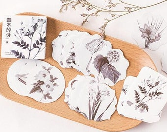 Paper Deco Label Seal Set - Shrub - 45 Pcs