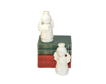 Vintage Angel Candlesticks Angel Candle Holders Holt Howard Angels Angel Figurines Christmas Angels