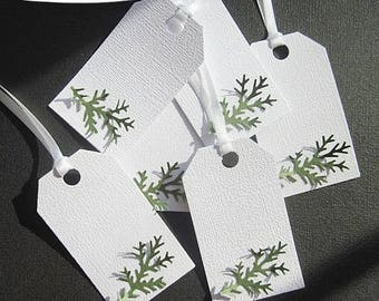 Gift Tags - Evergreen Branch - Christmas - Set of 6