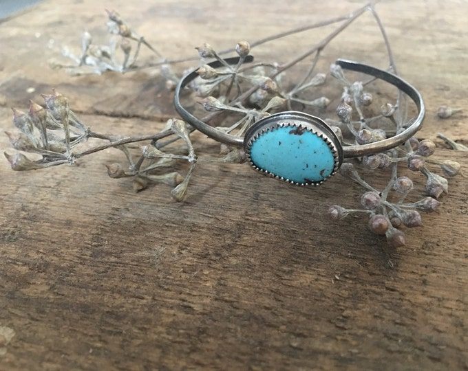 turquoise thin band cuff, .925 sterling silver jewelry, something blue for bohemian brides, rustic wedding gifts, gifts from bride to be