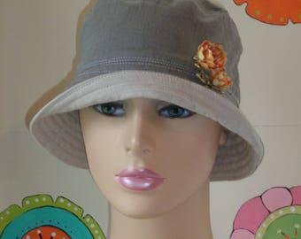 Bucket Hat  Organic Cotton. Handmade in the USA. SMALL-MEDIUM