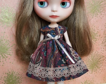 Beautiful Burgundy Paisley Print Blythe Dress