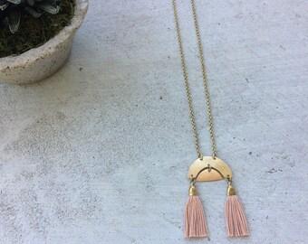 S U N R I S E  II tassel necklace