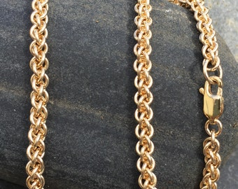 Artisan 14kt Gold Fill Handmade Chainmaille Necklace - Ready to Ship
