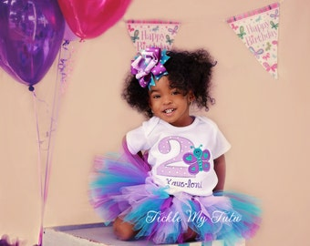 Butterfly Birthday Tutu Outfit-Butterfly Birthday Tutu Set-First Birthday Butterfly Outfit-Butterfly Party Outfit *Bow NOT Included*