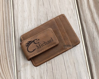 Leather Money Clip, Mens Personalized, Money Clip Wallet, Husband gift, Personalized Wallet, Brother gift, Mens Wallet, Anniversary gift