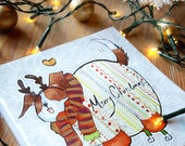 Jumper-Pup Christmas Card (Pack of 5)